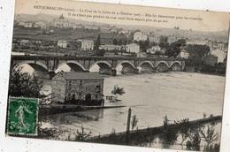 RETOURNAC LA CRUE DE LA LOIRE DU 9 OCTOBRE 1907 ELLE FUT DESASTREUSE POUR LES RIVERAINS - Retournac