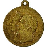 Algeria, Médaille, Voyage De Napoléon III Et Eugénie, 1860, Caqué, TTB - Other