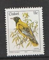 Ciskei 1984 Birds - Black-Headed Oriole 1v Mnh - Ciskei