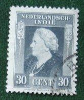 Koningin Wilhelmina 30 Ct NVPH 313 1945-1946 Gestempeld / Used NEDERLAND INDIE / DUTCH INDIES - Niederländisch-Indien