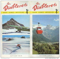 Les Diablerets 1971 - Faltblatt Mit 17 Abbildungen - Hotelliste - Schweiz