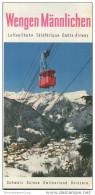 Wengen Männlichen - Luftseilbahn - Faltblatt Mit 20 Abbildungen - Schweiz