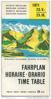 Schweiz - Fahrplan - Berner Oberland 1971 - Europe