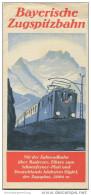 Bayrische Zugspitzbahn Ca. 1930 - Faltblatt Mit 14 Abbildungen - Bayern