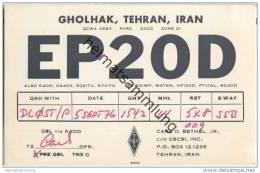 QSL - QTH - Funkkarte - EP2OD - Iran - Tehran - 1976 - Radio Amatoriale
