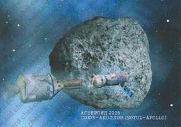 "[2018, Space, Astronomy, Apollo-Soyuz] Post Card ""Asteroid 2228 Soyuz-Apollo (Soyuz-Apollo)"". - Russie"