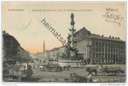 Wien II - Praterstrasse - Tegetthoff-Monument - Pferdewagen - Prater