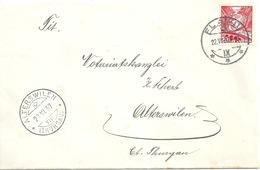 Brief  Flawil - Alterswilen              1937 - Briefe U. Dokumente