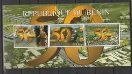 Benin 2010 The 50th Anniversary Of Independence S/s Mnh - Benin - Dahomey (1960-...)