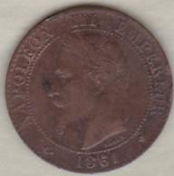 2 Centimes 1861 A Paris Napoléon III - France