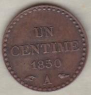 1 Centime Dupré 1850 A Paris .superbe - France