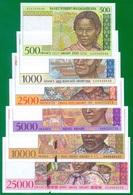 Madagascar 500 - 25 000 Francs ND(1994 - 1998) P75 - 82 UNC - Madagascar