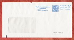 Brief, FRANKIT Neopost 1D150.., Regierungspraesidium Karlsruhe, 70 C, 2017 (53216) - BRD