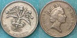 Great Britain UK 1 Pound 1989 VF - 1971-…: Dezimalwährungen
