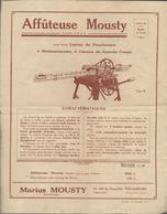 Pub Affuteuse Ets Rarius Mousty Pour Lames De Faucheuses à Toulouse - Agriculture