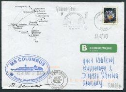 2003 Norway MV Columbus Ship Cover. Hammerfest - Briefe U. Dokumente