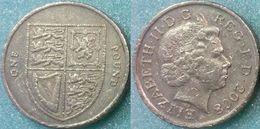 Great Britain UK 1 Pound 2008 VF - 1971-… : Monedas Decimales