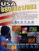 TARJETA TELEFONICA DE ARUBA. SETAR-115B, USA 880/881/882, 01.00 (017) - Aruba