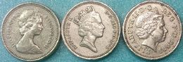 Great Britain UK 3x1 Pound 1983, 1993, 2003 VF - 1971-…: Dezimalwährungen