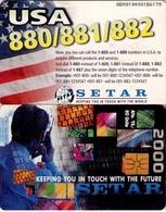TARJETA TELEFONICA DE ARUBA. SETAR-115C, USA 880/881/882, (018) - Aruba