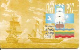 CARTEµ-PUCE-POLYNESIE-30U-PF54-GEMB-03/97-VOILIER DUFF--UTILISE-TBE- - French Polynesia