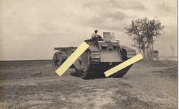 1918 Flandres Flandern Somme Nord Tank Chars Anglais Mark V Male Progression En Plaine Carte Photo Ww1 14-18 1914/1918 - War, Military