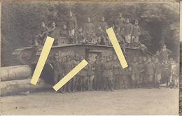 1918 Flandres Flandern Tank Chars Anglais Mark V Male Union Fall équipage Anglais Belges Carte Photo Ww1 14-18 1914/1918 - War, Military