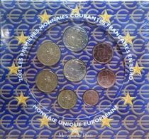 004 - COFFRET BU - EUROS FRANCE - 2002 : Sous Blister - France