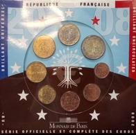012 - COFFRET BU - EUROS FRANCE - 2008 : Sous Blister - France