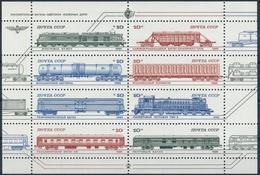 UDSSR 5515-5522 Kleinbogen Serie Einwandfrei Postfrisch/** Mit Originalgummi Ohne Falz Oder Falzspur - Trains