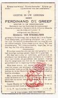 DP Dokter Ferdinand De Greef ° Huldenberg 1896 ? † Neder-Over-Heembeek Brussel 1936 X Gh. Van Stechelman - Devotion Images
