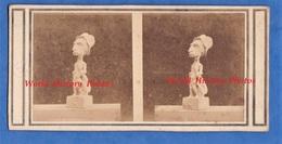 """Photo Ancienne Stéréo - Vers 1870 - Sculpture """" SERRES """" Caricature - Sculpteur Jean-Pierre Dantan (1800-1869) Le Jeune - Photos Stéréoscopiques"""