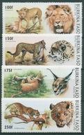 Burkina Faso 1996 Großkatzen Löwe Leopard Gepard 1437/40 Postfrisch - Burkina Faso (1984-...)