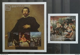St.Vincent 2015** Klb.7558-60 + Bl.810. World Famous Paintings MNH [18;62] - Kunst