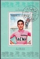 354 Ajman 1969 Ciclismo Cycling Eddy  MERCKX Sheet Perf. Tour - Ciclismo