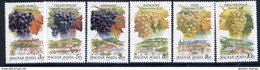 HUNGARY 1990 Wine Grapes And Regions MNH / **  Michel 4101-06 - Hungary