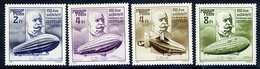 HUNGARY 1988 Zeppelin Anniversary MNH / **.  Michel 3942-45 - Hungary