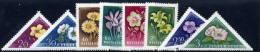 HUNGARY 1958 Flowers Set Of 8 MNH / **.  Michel; 1534-41 - Hungary
