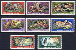 HUNGARY 1971 World Hunting Exhibition Set MNH / **.  Michel 2664-71 - Unused Stamps