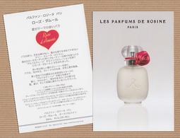 CC Carte Parfumée 'ROSINE' ROSE D'AMOUR Perfume Card JAPAN 15 X 10 - Modern (from 1961)