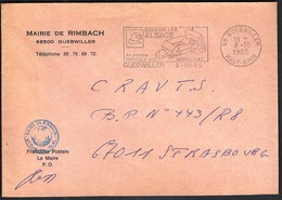 France Guebwiller 1985 / Mairie De Rimbach / Coat Of Arms / Music, Dominicans, Church / Machine Stamp / EMA - 1961-....