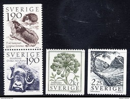 SWEDEN 1984 Mountain Flora And Fauna MNH / **.  Michel 1272-75 - Sweden