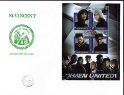 St Vincent 2003 X-Men Jean Grey Souvenir Sheet First Day Cover. - St.Vincent & Grenadines