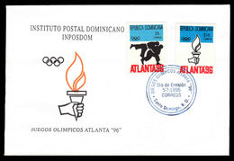 Dominican Republic 1996 Olympic Games Atlanta Illustrated And Unaddressed First Day Cover. - Dominican Republic