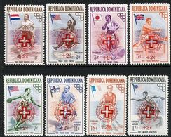 Dominican Republic 1957 Olympic Hungarian Refugees Red Cross Set Unmounted Mint. - Dominican Republic