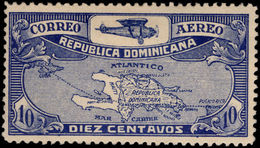Dominican Republic 1928 Air Mail Routes Fine Lightly Mounted Mint. - Dominican Republic
