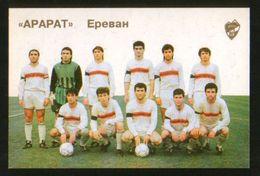 Russia USSR 1992  Football, Soccer: Football Team Ararat Yerevan (Armenia) - Calendars