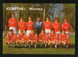 Russia USSR 1992  Football, Soccer: Football Team Spartak Moscow - Calendars