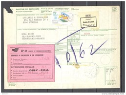 Bulletin D'Expédition - Portugal - Funchal Vers Paris - 04/11/1981 - Timbre De Madère / Madeira - 1910-... République