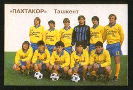 Russia USSR 1992  Football, Soccer: Football Team Pakhtakor Dushanbe (Tajikistan) - Calendars